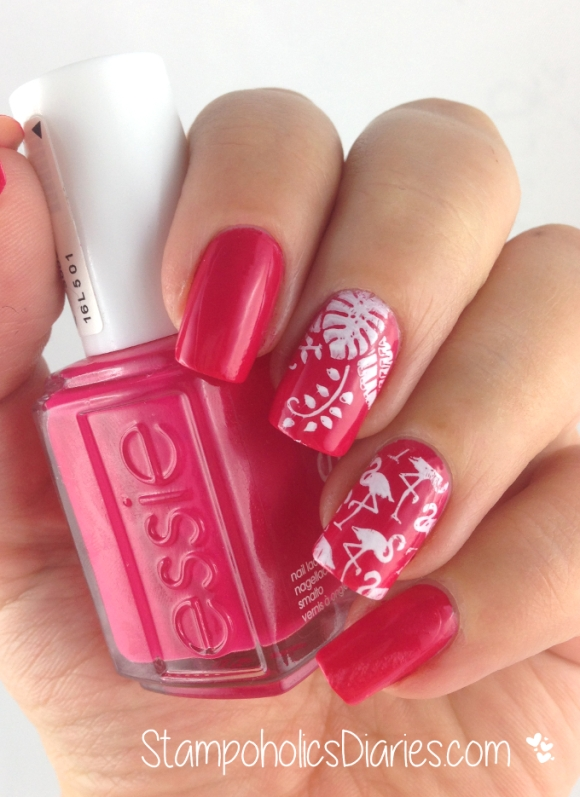 Essie Watermelon Flamingo Design
