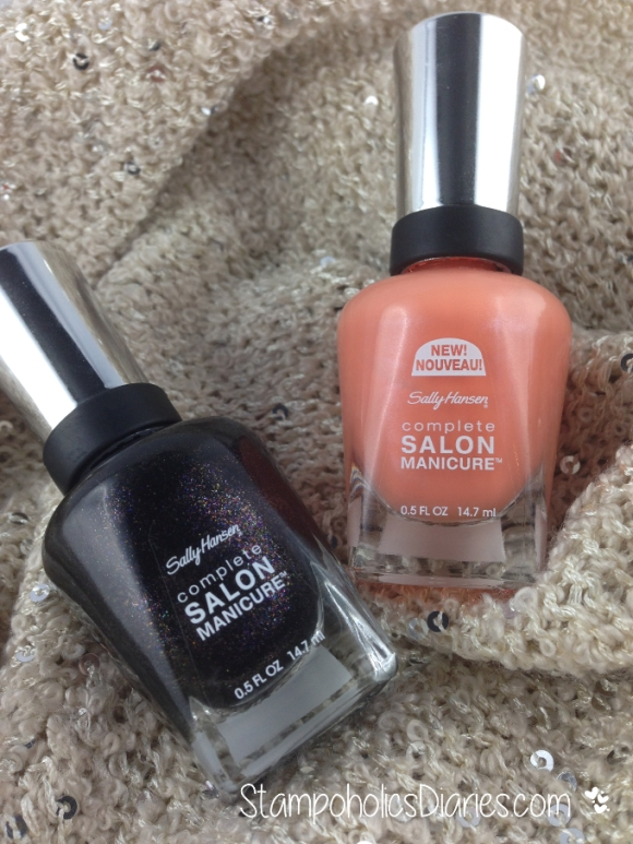 Sally Hansen Tahitian Sunset and Midnight in NY
