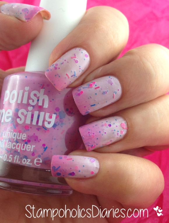 Stampoholics Diaries Polish me Silly Dreaming in Pink swatch