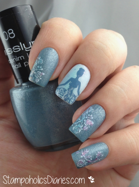 Born Pretty BP-25, Misslyn 08 denim look nailpolish