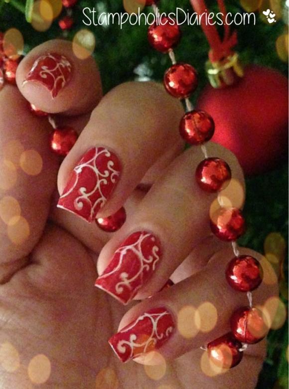 Christmas Nails MoYou Nails 84 StampoholicsDiaries.com