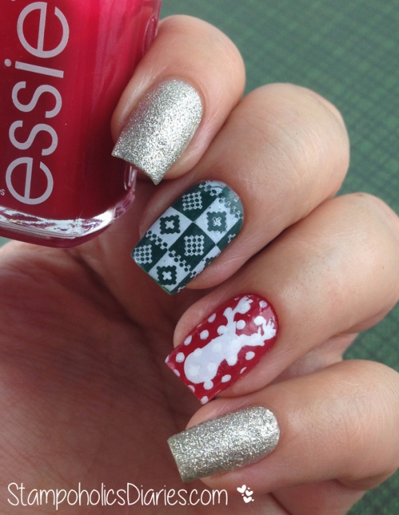 Essie she's pampered, beyound cozy, going incognito & MoYou and Apipila Stamping