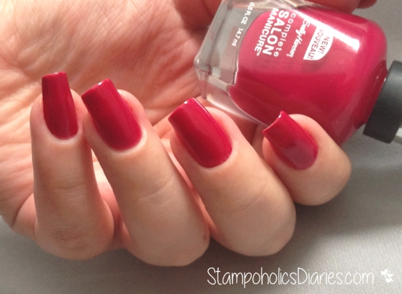Sally Hansen Aria Red-y Swatch StampoholicsDiaries.com