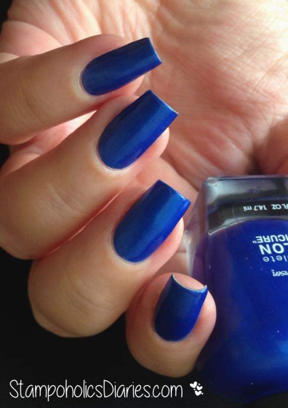 Sally Hansen Batbano Blue Swatch StampoholicsDiaries.com