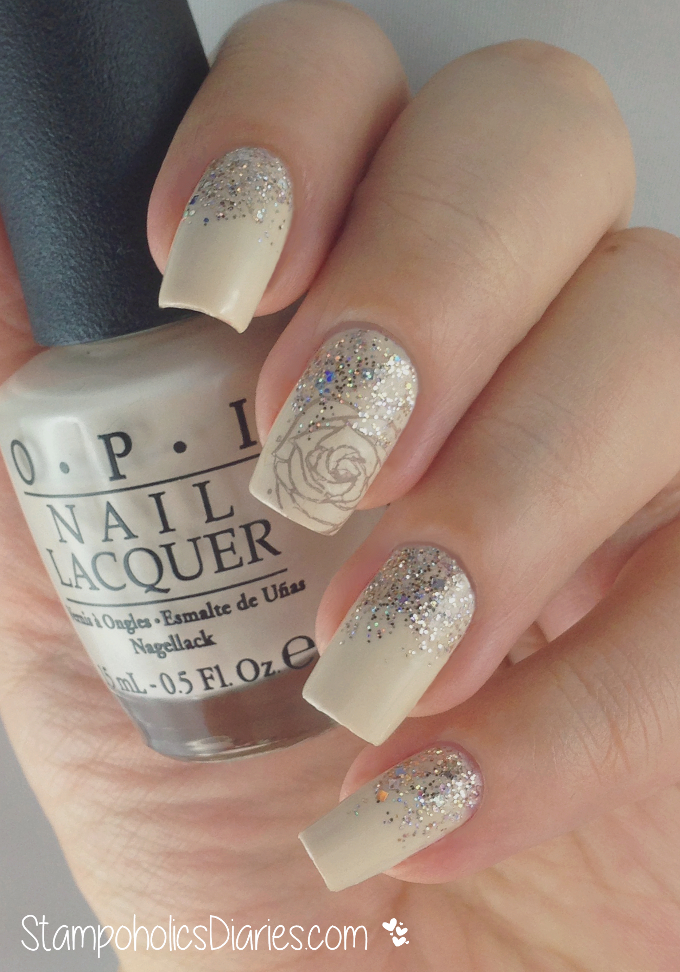 """Rose Nails with OPI """"My vampire is buff"""", Artdeco 410 and Pueen 64 ..."""