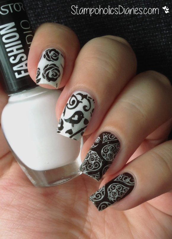 Astor Snow White, Essence Stamp me black, MoYou Fairytale Collection 08 StampoholicsDiaries.com