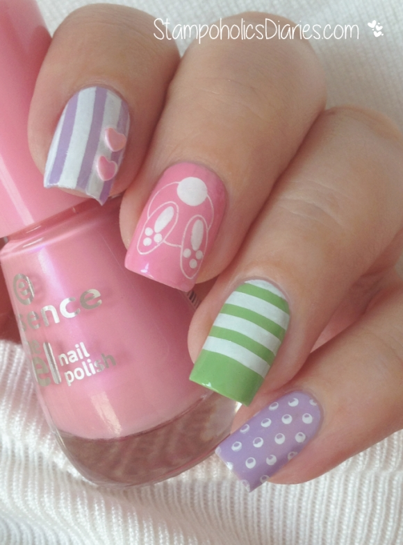 Easter Nails Essence the gel nail polish, MoYou stampoholicsDiaries.com