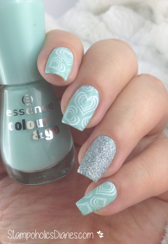 Essence  146 that's what I mint! , Rival De Loop Young Nail Glitter, Born Pretty BP-32 StampoholicsDiaries.com