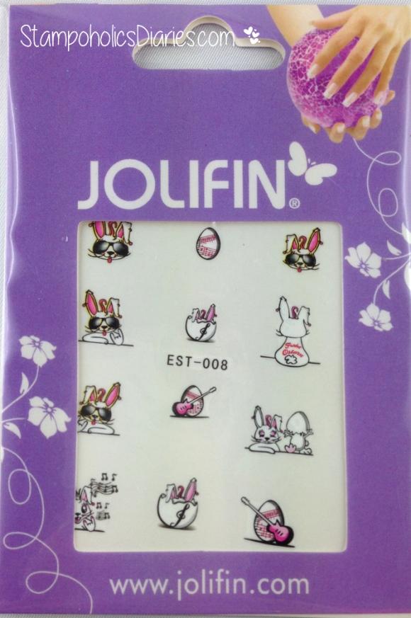 Jolifin Nail Tattoo EST-008 StampoholicsDiareies.com