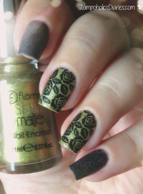 2. Rose Nails Flormar GS10 Curry, PD6, Born Pretty BP-40, Mundo de Unas Black stampoholicsdiaries.com