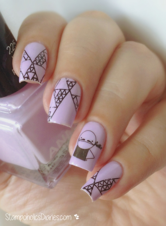 Anny 225 lilac powder, MoYou Hipster Collection - 07, Born Pretty Sticker