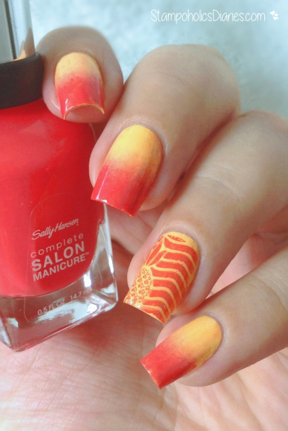 Sally Hansen Cook a Mango, China Glaze Metropollen-tin, MoYou Tropical Collection 08