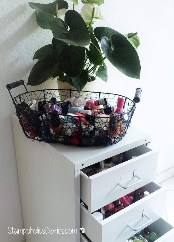 nail polish rack Nagellack Aufbewahrung IKEA Helmer