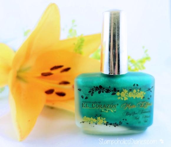 El Corazon 163 matte & Shine effect StampoholicsDiaries.com