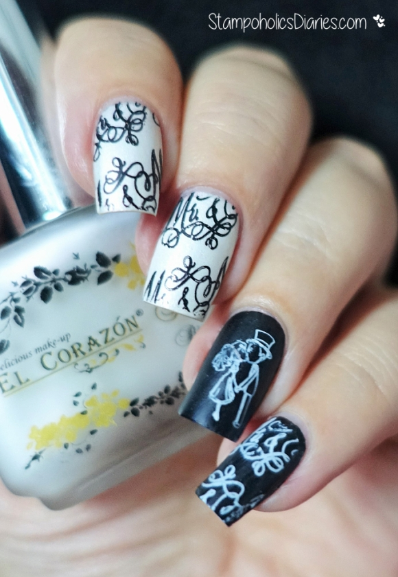 El Corazon Matte & Shine 173, MJ wedding plate StampoholicsDiaries