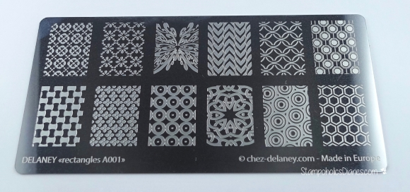 Chez Delaney rectangles A001 stamping stampoholicsdiaries.com