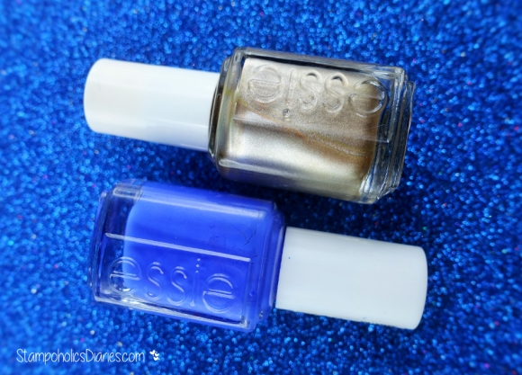 Essie Butler please and Essie Good as Gold nail Polish Stampoholicsdiaries.com