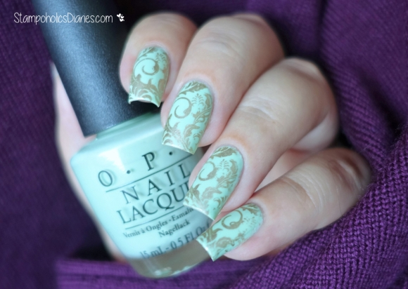OPI That's Hula-rious! & Bundle Monster BM-017 Stamping
