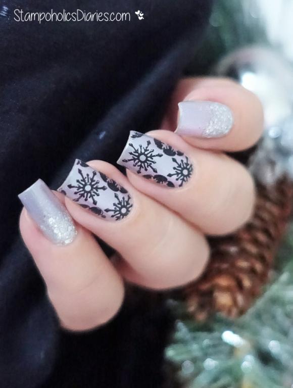 BeYu 487, Catrice It's Showtime,Cici&Sisi 07, Mundo de Unas Black Snowflakes Stamping-3