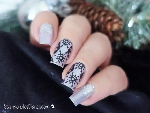 BeYu 487, Catrice It's Showtime,Cici&Sisi 07, Mundo de Unas Black Snowflakes Stamping