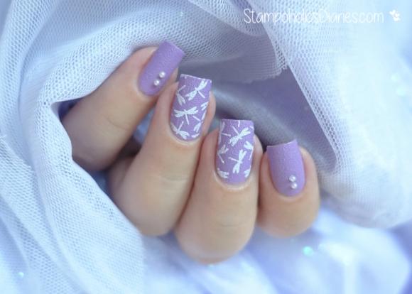 Rival de Loop Lavender Star, BP-74 Born Pretty Stamping  stampoholicsdiaries.com