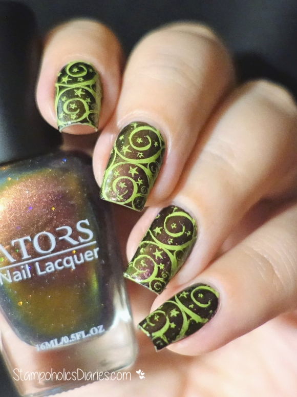 Ators Shiny Red, Born Pretty BP-03, Colour Alike Fresh Mojito Stamping