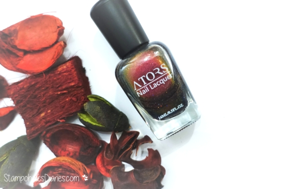 Ators Shiny Red Chameleon Holo StampoholicsDiaries.com