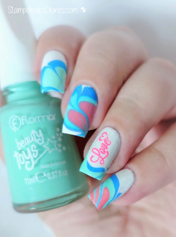 Flormar Frog Prince, Mermaid, Wonderheat Bear Water Marbling & Stamping konad m104