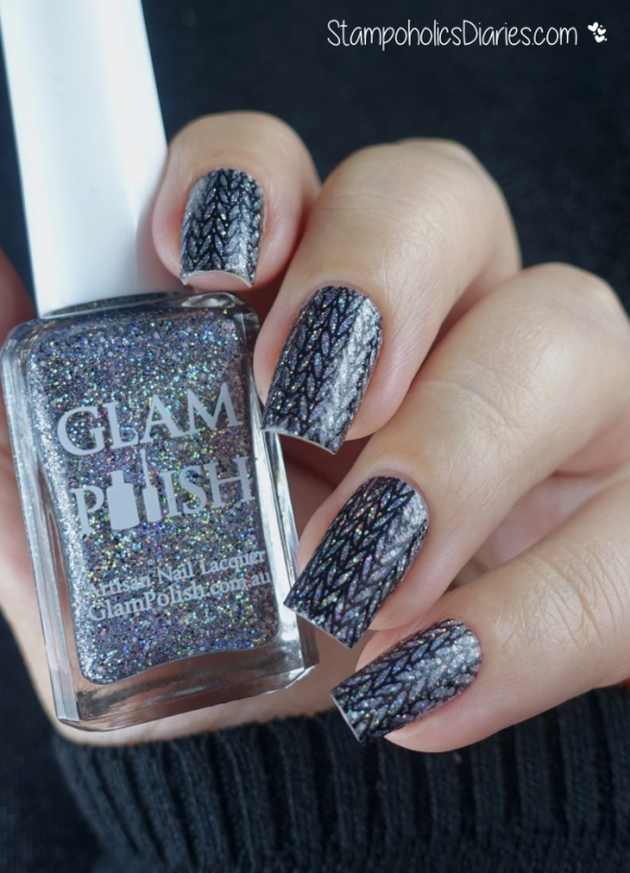 Glam Polish Run and Tell That, Stamping with Lesly ls-113