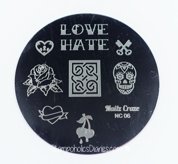 Nailz Craze NC 06. stamping plate stampoholicsdiaries.com